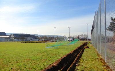 Installation automatische Bewässerungsanlage – Sportplatz Randenblick, Neunkirch