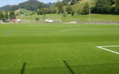 Sportplatz bauen – Sportplatz Bühler in neuem Grün