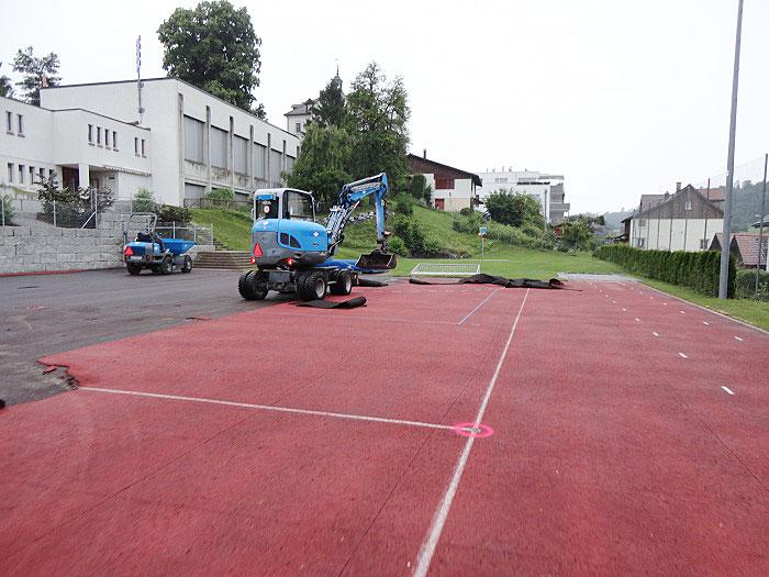 Sportplatz sanieren von Fässler Freiraumplanung in der Gemeinde Wil