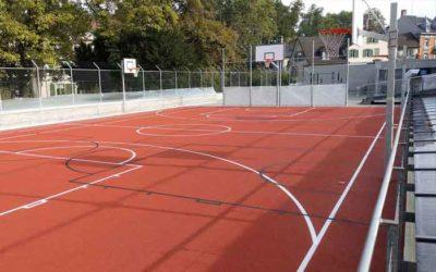Gummibelag Sportplatz Einbau – Kantonsschule am Burggraben St. Gallen