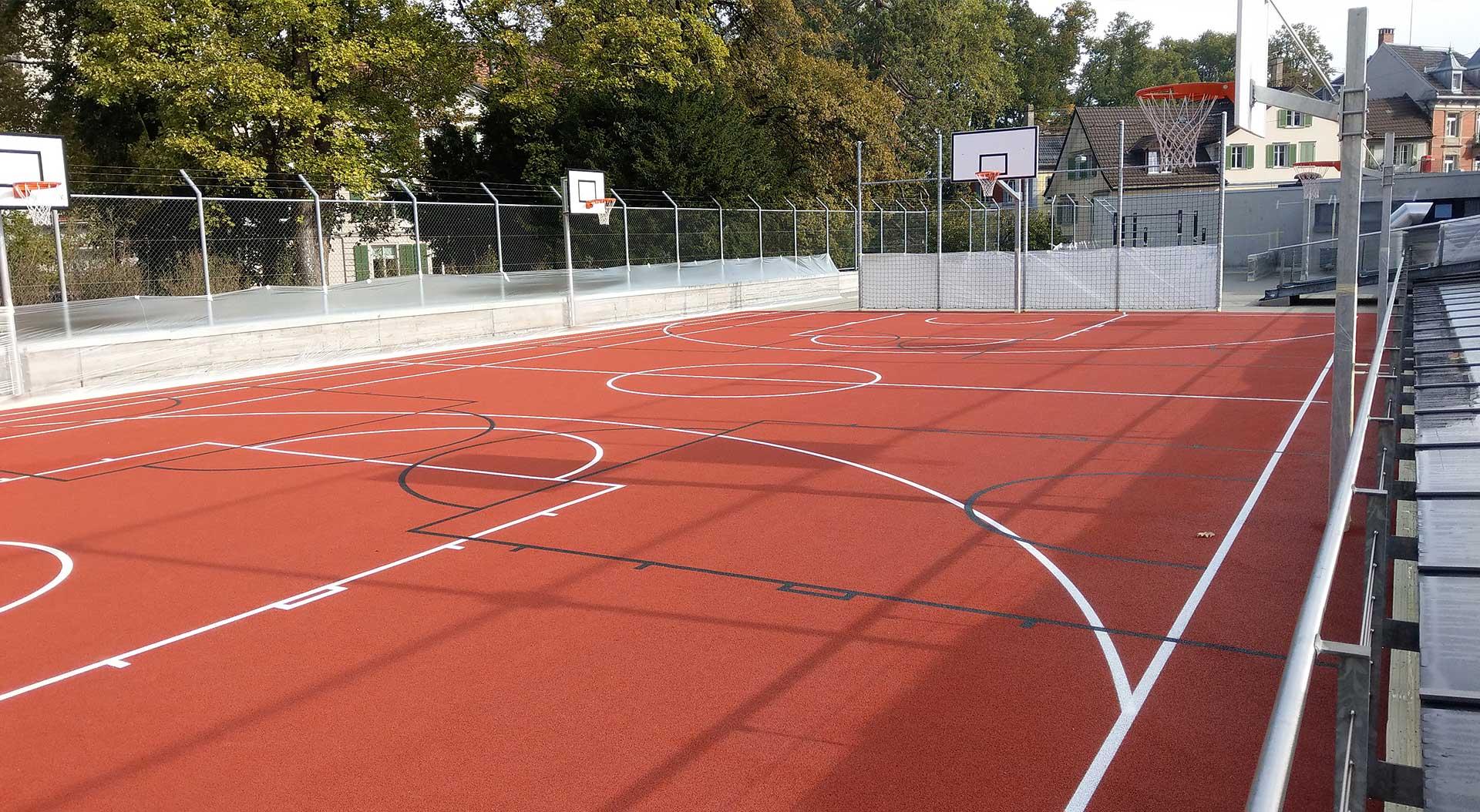 Basketballfeld bauen mit Fässler Freiraumplanung